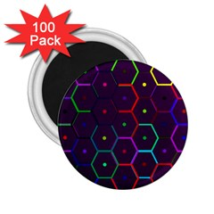 Color Bee Hive Pattern 2.25  Magnets (100 pack)