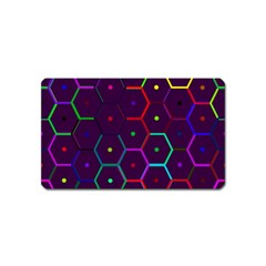 Color Bee Hive Pattern Magnet (name Card)
