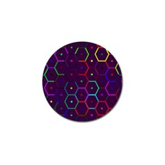 Color Bee Hive Pattern Golf Ball Marker (4 Pack)