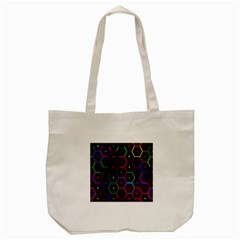 Color Bee Hive Pattern Tote Bag (cream)