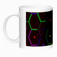 Color Bee Hive Pattern Night Luminous Mugs