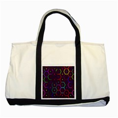 Color Bee Hive Pattern Two Tone Tote Bag
