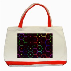 Color Bee Hive Pattern Classic Tote Bag (Red)