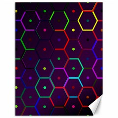 Color Bee Hive Pattern Canvas 12  X 16