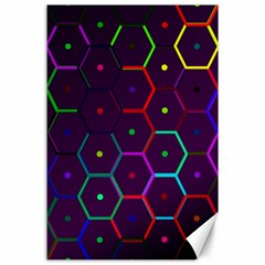 Color Bee Hive Pattern Canvas 24  X 36