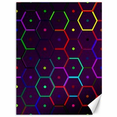Color Bee Hive Pattern Canvas 36  X 48