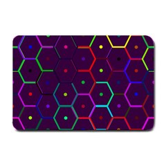 Color Bee Hive Pattern Small Doormat