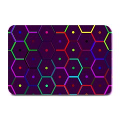Color Bee Hive Pattern Plate Mats