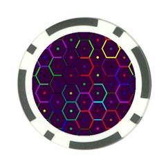 Color Bee Hive Pattern Poker Chip Card Guard