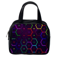 Color Bee Hive Pattern Classic Handbags (one Side)