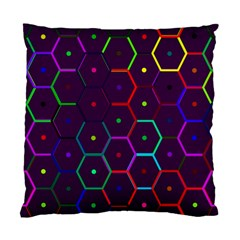 Color Bee Hive Pattern Standard Cushion Case (two Sides)