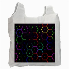 Color Bee Hive Pattern Recycle Bag (two Side)