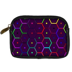 Color Bee Hive Pattern Digital Camera Cases