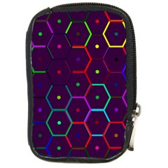 Color Bee Hive Pattern Compact Camera Cases