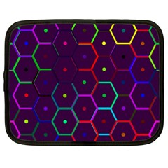 Color Bee Hive Pattern Netbook Case (XXL)