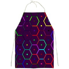 Color Bee Hive Pattern Full Print Aprons