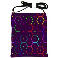 Color Bee Hive Pattern Shoulder Sling Bags