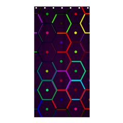 Color Bee Hive Pattern Shower Curtain 36  X 72  (stall)