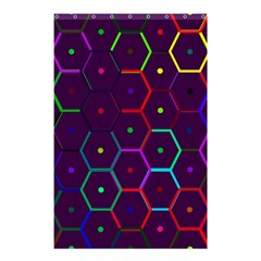 Color Bee Hive Pattern Shower Curtain 48  X 72  (small)