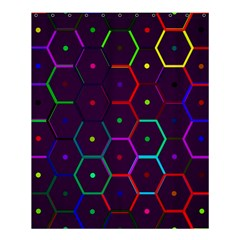 Color Bee Hive Pattern Shower Curtain 60  X 72  (medium)