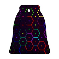 Color Bee Hive Pattern Ornament (bell)