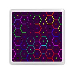 Color Bee Hive Pattern Memory Card Reader (square)