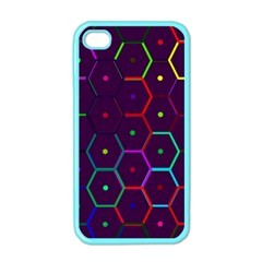 Color Bee Hive Pattern Apple Iphone 4 Case (color)