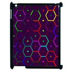 Color Bee Hive Pattern Apple Ipad 2 Case (black)