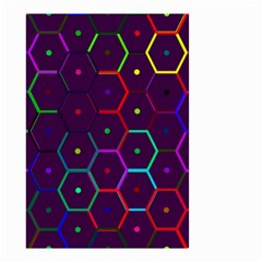 Color Bee Hive Pattern Small Garden Flag (two Sides)