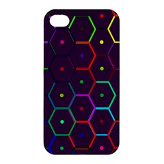 Color Bee Hive Pattern Apple Iphone 4/4s Premium Hardshell Case