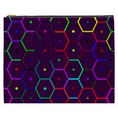 Color Bee Hive Pattern Cosmetic Bag (xxxl)