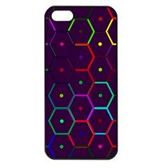 Color Bee Hive Pattern Apple Iphone 5 Seamless Case (black)