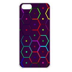 Color Bee Hive Pattern Apple Iphone 5 Seamless Case (white)