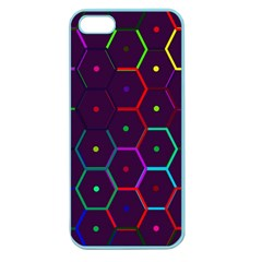 Color Bee Hive Pattern Apple Seamless Iphone 5 Case (color)