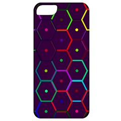 Color Bee Hive Pattern Apple iPhone 5 Classic Hardshell Case