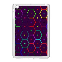 Color Bee Hive Pattern Apple Ipad Mini Case (white)