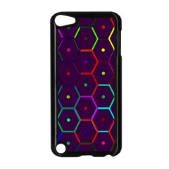 Color Bee Hive Pattern Apple Ipod Touch 5 Case (black)