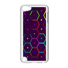 Color Bee Hive Pattern Apple Ipod Touch 5 Case (white)