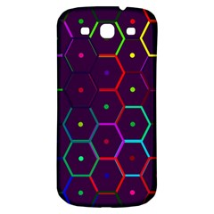 Color Bee Hive Pattern Samsung Galaxy S3 S III Classic Hardshell Back Case
