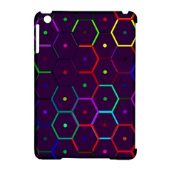 Color Bee Hive Pattern Apple Ipad Mini Hardshell Case (compatible With Smart Cover)
