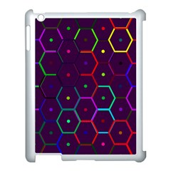 Color Bee Hive Pattern Apple Ipad 3/4 Case (white)