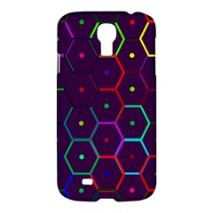 Color Bee Hive Pattern Samsung Galaxy S4 I9500/I9505 Hardshell Case