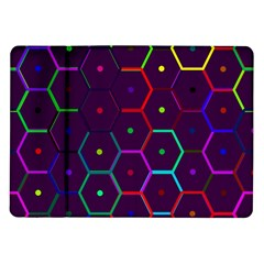Color Bee Hive Pattern Samsung Galaxy Tab 10 1  P7500 Flip Case