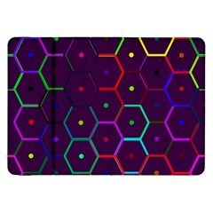 Color Bee Hive Pattern Samsung Galaxy Tab 8.9  P7300 Flip Case