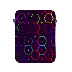 Color Bee Hive Pattern Apple Ipad 2/3/4 Protective Soft Cases