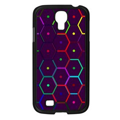 Color Bee Hive Pattern Samsung Galaxy S4 I9500/ I9505 Case (black)