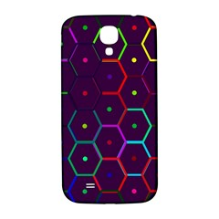 Color Bee Hive Pattern Samsung Galaxy S4 I9500/i9505  Hardshell Back Case