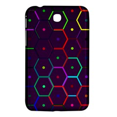 Color Bee Hive Pattern Samsung Galaxy Tab 3 (7 ) P3200 Hardshell Case