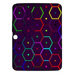 Color Bee Hive Pattern Samsung Galaxy Tab 3 (10 1 ) P5200 Hardshell Case