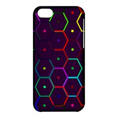 Color Bee Hive Pattern Apple Iphone 5c Hardshell Case